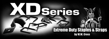 XD Series Extreme Duty Staples and Straps by W.W. Cross